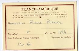 Paris Av Franklin Roosevelt : Carte  Association FRANCE AMERIQUE (PPP18241) - Wedding