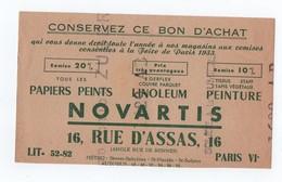 BUVARD --   NOVARTIS  --- Rue D'Assas - Papiers Peints, Linoleum, - Paints