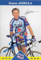 CARTE CYCLISME ZENON JASKULA SIGNEE TEAM MAPEI 1997 - Ciclismo