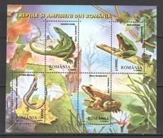 N731 2003 ROMANIA ANIMALS REPTILES AMPHIBIANS 1KB MNH - Reptiles & Batraciens