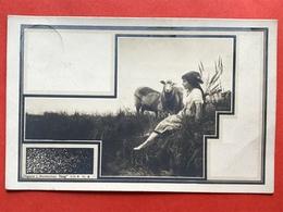 """Uitg L. HOORENMAN - HAAG"""" Serie 5 N° 8 - HERDERINNETJE MET SCHAPEN - BERGERE AVEC MOUTONS - Illustrateurs & Photographes"""