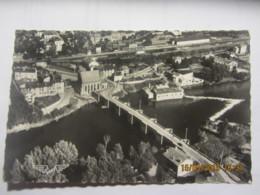 Cpsm Photo Aérienne SAINT JUNIEN (87) Le Pont Notre Dame Et Vue D'ensemble - Saint Junien