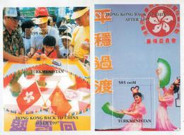 TURKMENSTAN     HONG KONG  BACK TO CHINA  AFTER  1997           2    S.SHEET   MNH - Turkmenistan