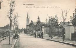 51 Avize Avenue De La Gare Cpa Carte Animée Cachet Avize 1907 - Autres Communes