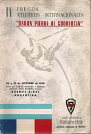 """IV Jeux Athlétiques Internationaux """"BARON PIERRE DE COUBERTIN"""" Programme De 1965 - Programas"""