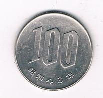 100 YEN 1968 JAPAN 4001/ - Japon