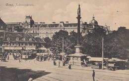 Graz - Jakominiplatz , Strassenbahn Tram - Graz