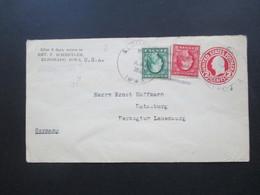 USA 1923 Nr. 189 Y DI Aus Markenheftchen! GA Umschlag Mit 2 Zusatzfrankaturen Nach Ratzeburg Herzogtum Lauenburg - Briefe U. Dokumente