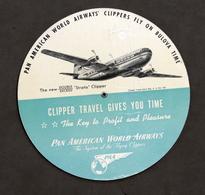 Pubblicità - Regolo Fusi Orari Pan American World Airways - Pan Am - 1960 Ca. - Pubblicitari