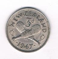 3 PENCE 1947 NIEUW ZEELAND /4004/ - Nouvelle-Zélande