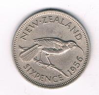 6 PENCE 1956 NIEUW ZEELAND /4006/ - Nouvelle-Zélande