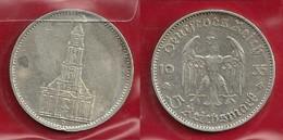 GERMANIA 1935 D - 5 Reichsmark  BB / SPL - Argento / Argent / Silver - Confezione In Bustina - (3 Foto) - [ 4] 1933-1945 : Third Reich