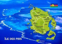 New Caledonia Isle Of Pines Map New Postcard - New Caledonia