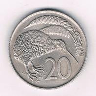 20 CENTS 1967  NIEUW ZEELAND /4008/ - Nouvelle-Zélande
