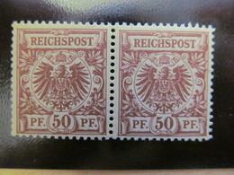 E3179) DR** Krone Nr 50 D Im Postfr Paar,tiefst Gepr Zenker,Mi über 300 - Deutschland