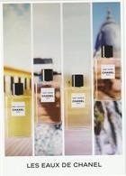 CHANEL    Les EAUX De CHANEL Grande Carte D' Invitation ( 21 / 15 Cm ) - Cartas Perfumadas