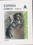 ESPAÑA SPAIN SELLO TEMA CABALLOS HORSES CHEVAUX - CARTEL FIESTAS SAN JORGE ALCOY (ESPAÑA) AÑO 2.019 - Caballos