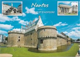 44 - NANTES - VILLE D'ART ET D'HISTOIRE -  3 PETITES VUES - CPM - VIERGE - - Nantes