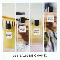 CHANEL    Les EAUX De CHANEL  Carte D' Invitation Double ( 10 / 10 Cm ) - Cartas Perfumadas