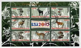 REPUBLIQUE  DU  CONGO    ESA 2010   CHAMPIGNONS  ET  FAUNE       S.SHEET    (TIMBRATO) - Congo - Brazzaville