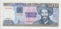 Cuba 20 Peso 2006 Pick 121Ac AUNC - Cuba