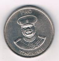 20 SENITI 1981 (mintage 610000 Ex.) TONGA /4012/ - Tonga