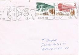 32733. Carta SAN SEBASTIAN 1980. Rodillo Especial Exposicion Internacional CANINA, Perros, Dog - 1931-Hoy: 2ª República - ... Juan Carlos I