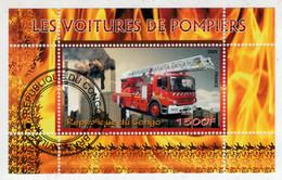 REPUBLIQUE  DU  CONGO     2009   LES  VOITURES  DES  POMPIERS       S.SHEET    (TIMBRATO) - Congo - Brazzaville