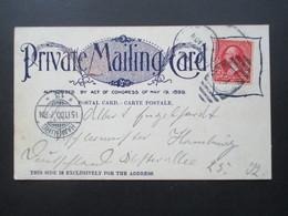 USA 1900 Private Mailing Card World Building Trinity Park Washington Nach Hamburg Mit Ak Stempel! - Briefe U. Dokumente