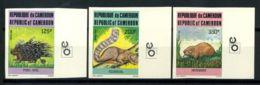 Cameroun 1985 Mi. 1093-1095 Neuf ** 100% Non Dentelé Animal - Cameroun (1960-...)