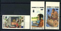 Cameroun 1983 Mi. 1016-1018 Neuf ** 100% Non Dentelé Année Worlde Communications - Cameroon (1960-...)