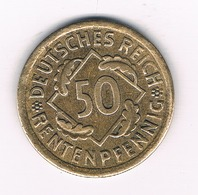 50 RENTENPFENNIG 1924 A - DUITSLAND /4015/ - [ 3] 1918-1933: Weimarer Republik