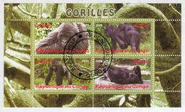 REPUBLIQUE  DU  CONGO     2009     GORILLES       S.SHEET    (TIMBRATO) - Congo - Brazzaville