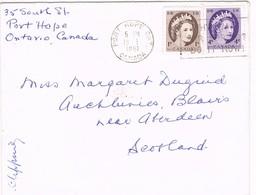 32735. Carta PORT HOPE (Ontario) Canada 1961 To Scotland - 1952-.... Reinado De Elizabeth II
