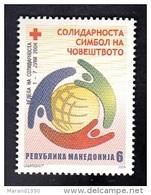 MACEDONIA, 2004, CS 129, RED CROSS, WEEK OF SOLIDARITY ** - Macedonia