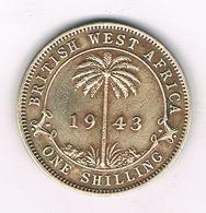 0NE SHILLING 1943 BRITISH WEST  AFRICA /4019/ - Münzen