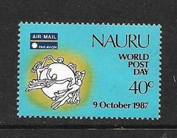 NAURU 1987 JOURNEE DE LA POSTE  YVERT N°A1 NEUF MNH** - Nauru