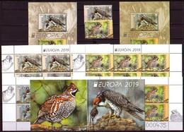 BULGARIA - 2019 - Europa-CEPT - Oiseau Protege - Set + Bl Norm. + Bl Souv.+ 2 PF Norm. + 2 PF Souv. + Carnet - Port Free - Bulgaria