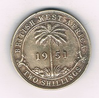 2 SHILLINGS 1951 BRITISH WEST  AFRICA /4020/ - Monnaies