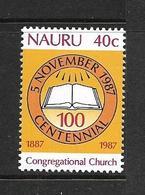 NAURU 1987 EGLISE CONGREGATIONALISTE  YVERT N°336 NEUF MNH** - Nauru