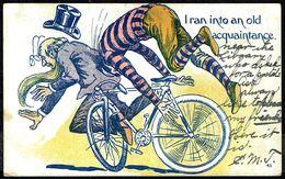 """"""" Le Cycliste Maladroit """" -  Circulé - Circulated - Gelaufen - 1901. - Humour"""