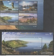 INDONESIA, 2017, MNH, TOURISM, MOUNTAINS, BEACHES, LANDSCAPES,  SET+ SS - Other