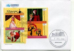 """""""TITERES"""". ARGENTINA AÑO 2002, SOBRE PRIMER DIA DE EMISION, FDC ENVELOPE. - LILHU - Juegos"""