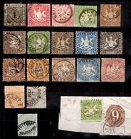 Würtemberg Très Belle Collection De Bonnes Valeurs Classiques 1852/1879. Forte Cote! A Saisir! - Wurtemberg