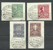 Estland Estonia 1939 Michel 142 - 145 Sonderstempel II. EESTI MÄNGUD Special Cancel - Estland