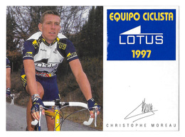 CARTE CYCLISME CHRISTOPHE MOREAU TEAM LOTUS 1997 - Cycling