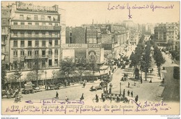 75 PARIS 18. Boulevard De Clichy Cinéma Gaumont Et Bouche Du Métropolitain 1920 - Arrondissement: 18