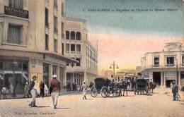 AFRIQUE Maghreb - MAROC Morocco - Carrefour De L'Avenue Du Général Moinier ( Rue Animée ) CPA - - Casablanca