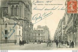WW 44 NANTES. Eglise De La Paroisse Place Et Rue Saint-Clément 1914 - Nantes