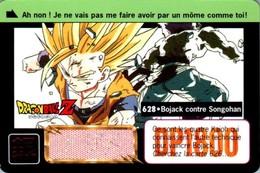 Carte 628 Dragon Ball Z Carddass-Bandai 1995 DP1800 Fr DBZ Bojack Contre Songohan En TB.Etat - Dragonball Z